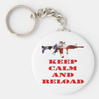 Keep Calm And Reload Key Chain