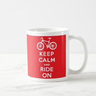 Keep Calm and Ride On Basic White Mug