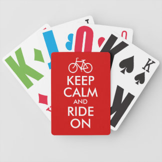 Keep Calm and Ride On Bicycle Playing Cards