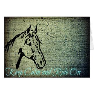 Keep Calm and Ride On Birthday Card