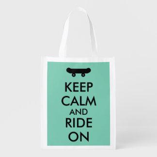 Keep Calm and Ride On Skateboarding Rider Custom