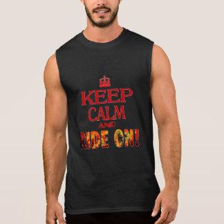 Keep Calm and Ride On Sleeveless Tee