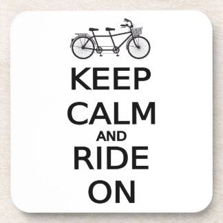 keep calm and ride on word art, text design coaster