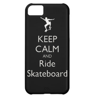 keep calm and ride skateboard iPhone 5C case