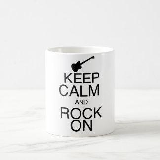 Keep Calm and Rock On Basic White Mug