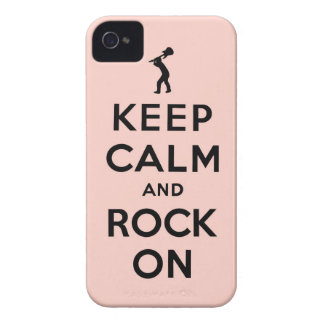 Keep calm and rock on Case-Mate iPhone 4 case