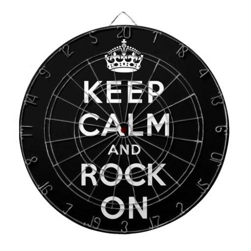 Keep Calm and Rock On Dartboard
