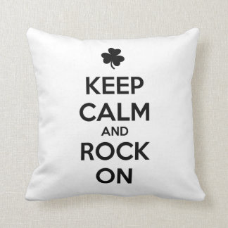 KEEP CALM and ROCK ON - Irish Dance Throw Pillow