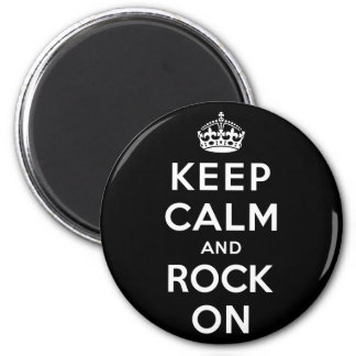 Keep Calm and Rock On Magnet