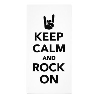 Keep calm and Rock on Photo Greeting Card