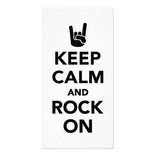 Keep calm and Rock on Photo Greeting Card
