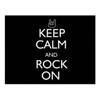 Keep Calm and Rock On Postcard