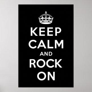 Keep Calm and Rock On Print