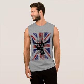 Keep Calm and Rock On UK Flag Sleeveless Shirt