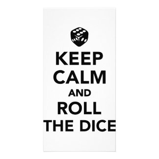 Keep calm and roll the dice photo card