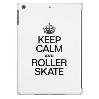 KEEP CALM AND ROLLER SKATE iPad AIR CASE