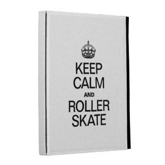 KEEP CALM AND ROLLER SKATE iPad FOLIO COVERS