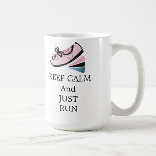 Keep Calm and Run Coffee Mugs