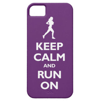 Keep Calm and Run On (plum) iPhone 5 Case