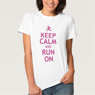 Keep Calm and Run On Tshirt