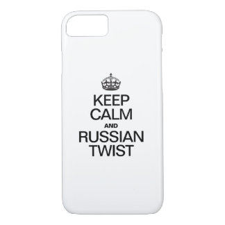 KEEP CALM AND RUSSIAN TWIST iPhone 7 CASE