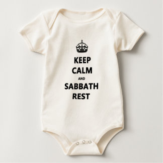KEEP CALM AND SABBATH REST BABY BODYSUIT