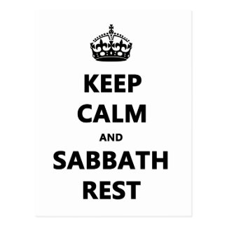 KEEP CALM AND SABBATH REST POSTCARD
