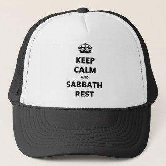 KEEP CALM AND SABBATH REST TRUCKER HAT