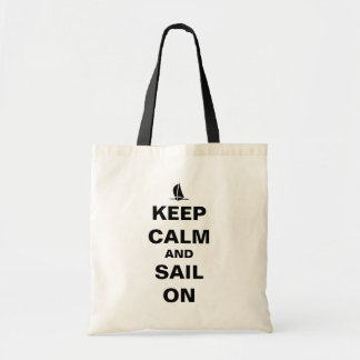 KEEP CALM AND SAIL ON TOTE BAGS