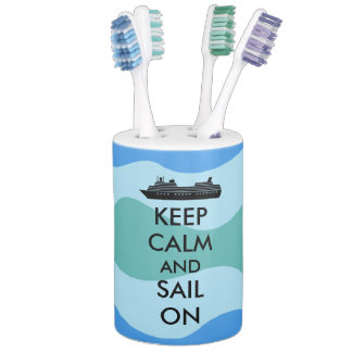 Keep Calm and Sail On Cruise Ship Custom Bath Accessory Sets