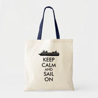 Keep Calm and Sail On Cruise Ship Custom Bags