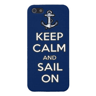 keep calm and sail on iPhone 5 covers
