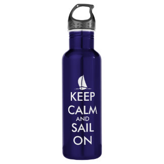 Keep Calm and sail on | Nautical 710 Ml Water Bottle