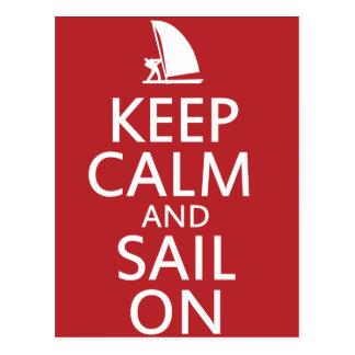 Keep Calm and Sail On Post Card