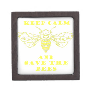 Keep Calm and Save the Bees Premium Jewelry Box