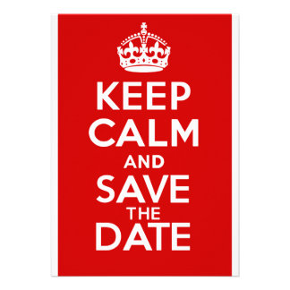 KEEP CALM and SAVE the DATE Personalised Announcements