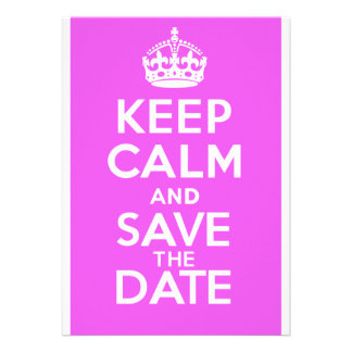 KEEP CALM and SAVE the DATE Invitation