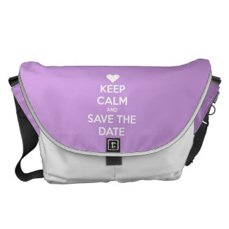Keep Calm and Save the Date Lavender Courier Bags