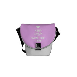 Keep Calm and Save the Date Pink Courier Bag