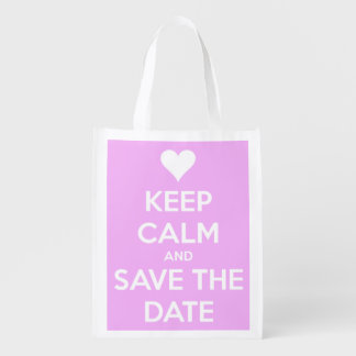 Keep Calm and Save the Date Pink Personalized