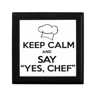 Keep Calm and Say Yes Chef Funny Kitchen Ware Gift Box