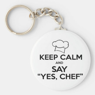 Keep Calm and Say Yes Chef Funny Kitchen Ware Key Ring