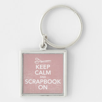 Keep Calm and Scrapbook On Keychain 2, Inv. Pink