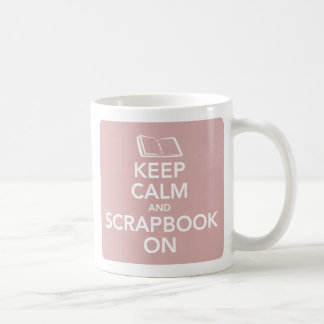 Keep Calm and Scrapbook On Mug, Inverted Pink Coffee Mug
