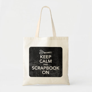 Keep Calm and Scrapbook On Tote 2, Inverted Black