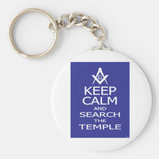 KEEP CALM AND SEARCH TEMPLE KEYCHAIN