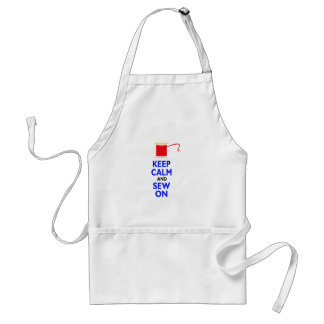 KEEP CALM AND SEW ON APRON