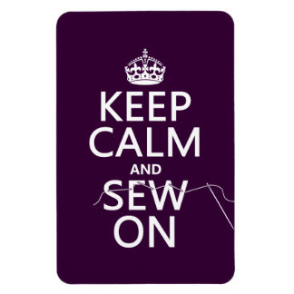 Keep Calm and Sew On in all colors Flexible Magnets