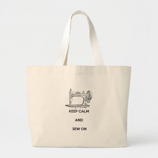Keep Calm and Sew On Canvas Bag