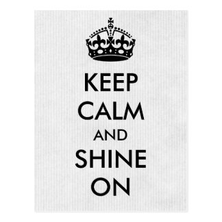 Keep Calm and Shine On White Kraft Paper Postcard